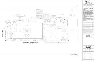 Plan d'implantation Hôtel de ville du Mont Saint-Grégoire